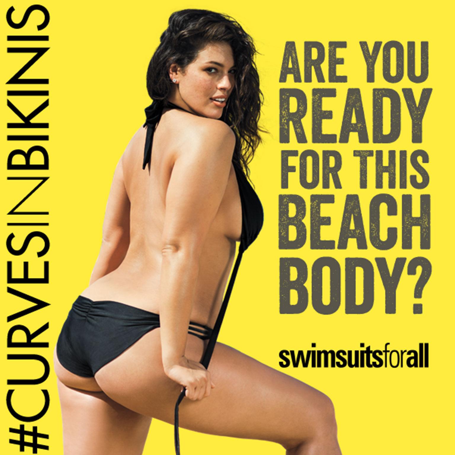 le mannequin grande taille, Ashley Graham, dénonce une affiche sexiste du métro londonien.
