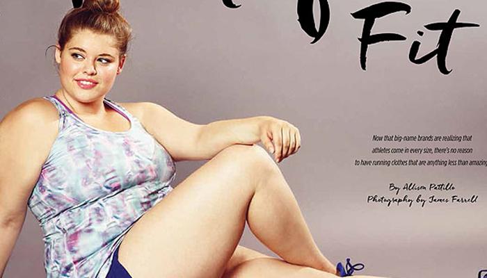 """Un mannequin """"plus size"""" en couverture d'un magasine sportif"""