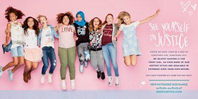 La marque de vêtements pour enfants « Justice » met en avant la diversité dans ses campagnes publicitaires !
