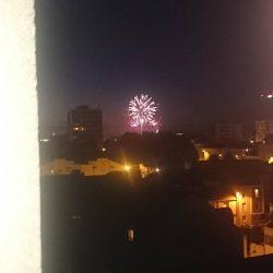 Voir le feux d'artifice de chez soi  #nantes