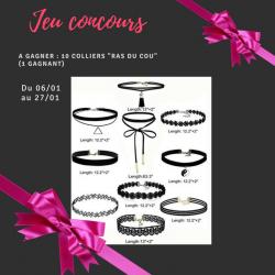 Concours : Début de l'année – 10 colliers