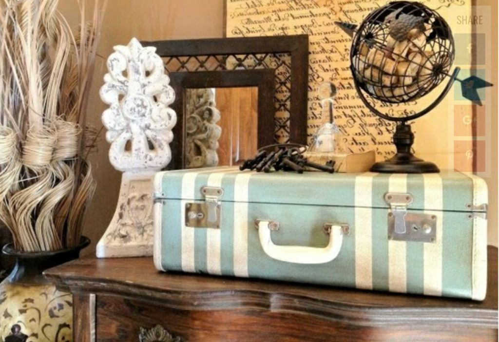 r tro cr er une valise vintage tendance pas ch re beauteronde. Black Bedroom Furniture Sets. Home Design Ideas