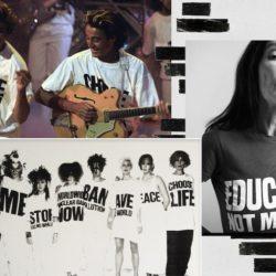 Le retour du t-shirt à message… Exprimer des idées et des opinions sur un vêtement ? Pourquoi pas !