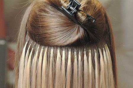 Extensions de cheveux a la keratine